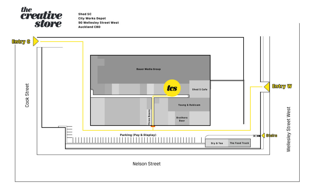 The Creative Store Location Map